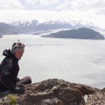 Laeti devant le glaciar Grey
