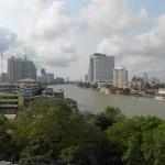 Vue sur le fleuve de Bangkok